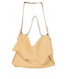 Borsa a spalla e tracolla -  Serena -  in pelle sfoderata con tasca interna in tessuto Fortuny