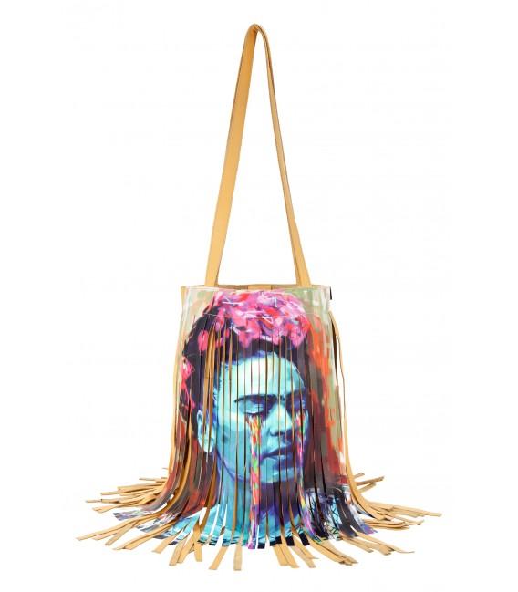 Borsa a spalla  -  Icone  'Frida Kahlo'